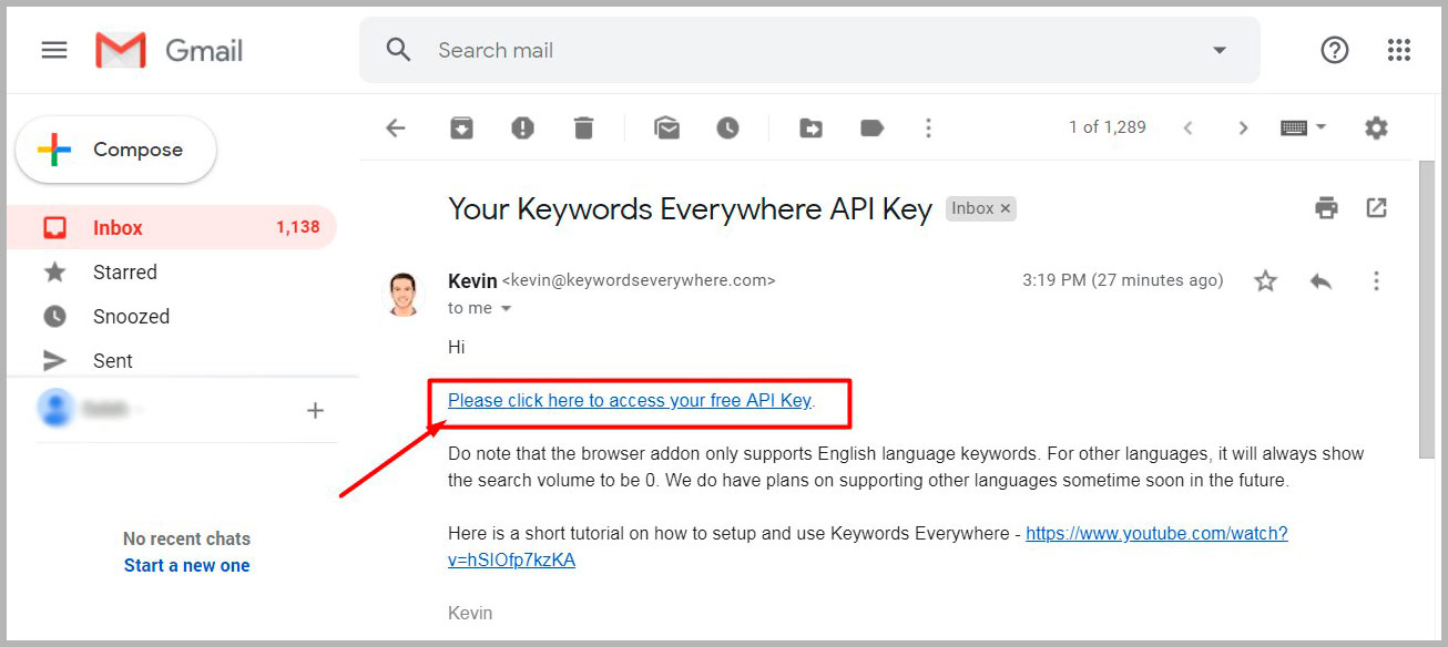 Keywords EveryWhere Free API Key
